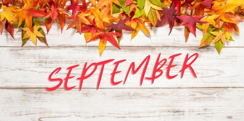 September over fall background